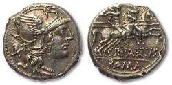 Ancient Coins - P. Aelius Paetus AR (Silver) Denarius--Superb