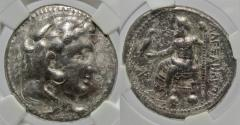 "Ancient Coins - Alexander III ""The Great"" AR (Silver) Tetradrachm--NGC Slabbed and Graded"