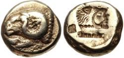 Ancient Coins - Mytilene, Lesbos EL (Electrum or Pale Gold) Hekte--Very Nice