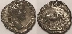 Ancient Coins - Septimius Severus AR (Silver) Denarius--Nice Elephant Reverse