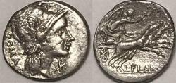 Ancient Coins - L. Flaminius Chilo AR (Silver) Denarius