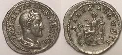 Ancient Coins - Maximinus AR (Silver) Denarius--Very Nice