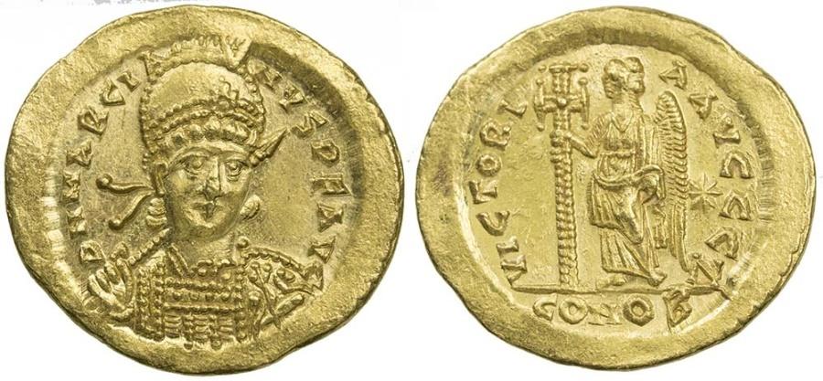 Ancient Coins - Marcian AV (Gold) Solidus--Very Nice