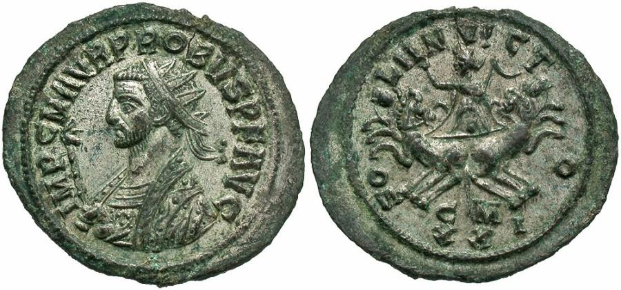 Ancient Coins - Probus AE Silvered Antoninianus--Superb