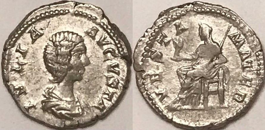 Ancient Coins - Julia Domna AR (Silver) Denarius--Scarce Type!