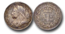 World Coins - EM599 - Great Britain, Victoria (1837-1901), Silver Maundy Penny,  1900
