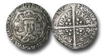 World Coins - TP24 - England, Henry V (1413-1422), Groat, 3.60g., 26mm, London mint, Class Cb, type 2, Normal bust, m.m. Pierced Cross