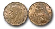 World Coins - EM439 – Great Britain, George V (1910-1936), Bronze Farthing, 1931