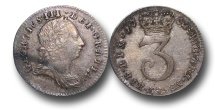 World Coins - EM394 - GREAT BRITAIN,    George III (1760-1820), Maundy Silver Threepence, 1762