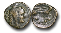 Ancient Coins - R6150 – Republic, Anonymous (91 B.C.), Æ Post-Reform Quadrans, 4.58g., 20mm, Rome mint