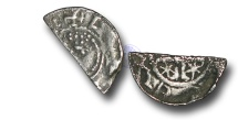 World Coins - SZ197 - SCOTLAND, William I 'The Lion' (1165-1214), Cut Halfpenny, 0.68g., Short Cross and Stars coinage, Phase B (c.1205-c.1230), the Edinburgh and Perth moneyers Hue and Walter
