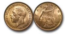 World Coins - EM575 – Great Britain, George V (1910-1936), Bronze Farthing, 1936