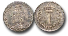 World Coins - EM655 - Great Britain, Victoria (1837-1901), Silver Maundy Penny,  1891