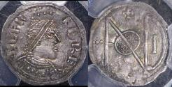 World Coins - TY23 - ENGLAND, ANGLO-SAXON,  The Kingdom of Wessex, Alfred the Great (871-899), Silver Penny,  London Monogram type