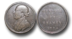 World Coins - M696 - ENGLAND, John Manners, Marquess of Granby PC, (2 January 1721 – 18 October 1770), by John Kirk (1724-1776), AE medal