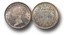 World Coins - EM375 - Great Britain, Victoria   (1837-1901), Silver Maundy Penny,  1877