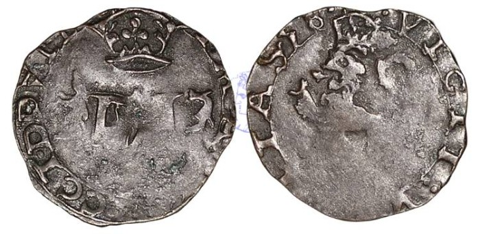 World Coins - S312 - SCOTLAND, Mary (1542-1567), 2nd Period, Marriage to Francis (Dauphin of France, later king Francis II of France), (1558-1560), Billon Lion or Hardhead