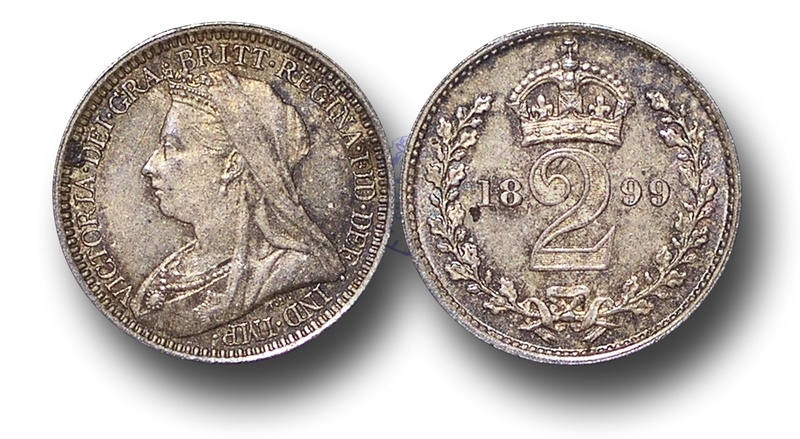 World Coins - EM129 - Great Britain, Victoria   (1837-1901), Silver Maundy Twopence, 1899