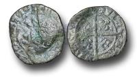 World Coins - SZ130  -  SCOTLAND, James IV (1488-1513), Billon Penny, 0.55g., 2nd Issue, type IV, Edinburgh mint