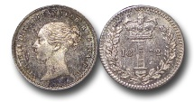 World Coins - EM536 - Great Britain, Victoria   (1837-1901), Silver Maundy Penny, 1872