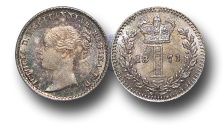 World Coins - EM390 - Great Britain, Victoria   (1837-1901), Silver Maundy Penny,  1873