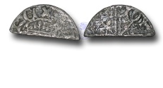 World Coins - S365 - SCOTLAND, Alexander III (1249-1286), Cut halfpenny, 0.47g., 1st Coinage, Voided Long Cross and Stars Coinage (1250 - c.1280),  moneyer Iohan, mint Perth or Berwick