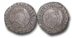 World Coins - IJF20 - Ireland, James I  (1603-1625), Shilling, 4.46g., 28mm, Second Coinage (1604-1607), m.m. Rose (1606-07), 3rd bust