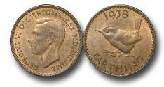 World Coins - EM473 - GHREAT BRITAIN, George VI (1936-1952), Bronze Farthing, 1938