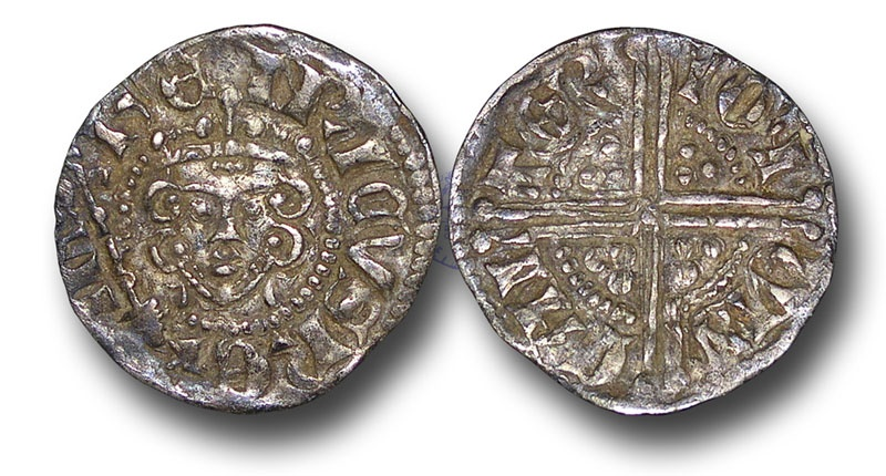 World Coins - H5371 - ENGLAND, Henry III (1216-1272), Penny, 1.26g., 18mm, Voided Long Cross Coinage, Class 5b2, (1248-1250), Ion - Canterbury