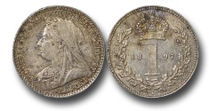 World Coins - EM596 - Great Britain, Victoria (1837-1901), Silver Maundy Penny, Old Head, 1897