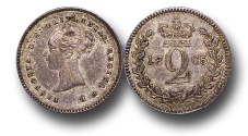 World Coins - EM387 - Great Britain, Victoria   (1837-1901), Silver Maundy Twopence,  1866
