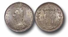 World Coins - EM80 - Great Britain, Victoria (1837-1901), SilverThreepence, 1887