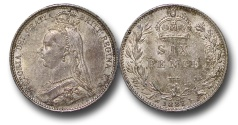 World Coins - EM650 - Great Britain, Victoria (1837-1901), Silver Sixpence, 1887