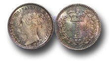World Coins - EM389 - Great Britain, Victoria   (1837-1901), Silver Maundy Penny,  1875