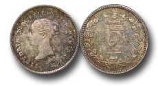 World Coins - EM435 - Great Britain, Victoria (1837-1901), Silver Maundy Twopence,  1869