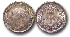 World Coins - EM633 - Great Britain, Victoria (1837-1901), Silver Maundy Penny,  1884