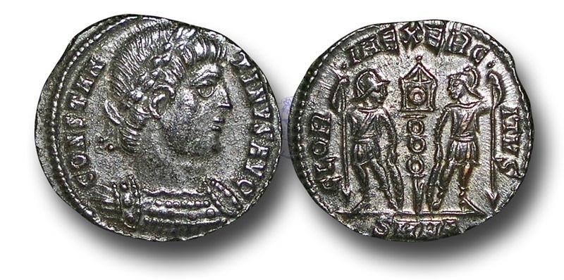 Ancient Coins - R16174 -  Constantius II (A.D. 337-3617), Bronze Follis, 1.32g., 17mm, Heraclea mint