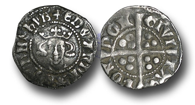World Coins - H4449 - ENGLAND, Edward I (1272-1307), Penny, 1.35g., New coinage, 10ab (1301 to 1310), London mint