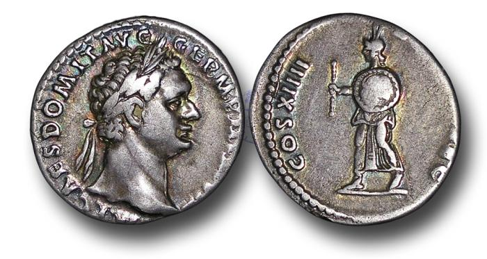 Ancient Coins - RPM44 - Domitian (A.D. 81-96), Silver Denarius, 2.89g., 18mm, Rome mint, 14 September - 31 December A.D. 88, ludi saeculares or Secular Games