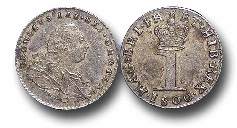 World Coins - EM47 - GREAT BRITAIN,  George III (1760-1820), Maundy Silver Penny, 1800
