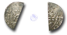 World Coins - SZ200 - SCOTLAND, William I 'The Lion' (1165-1214), Cut Halfpenny, 0.73g., Short Cross and Stars coinage, Phase B (c.1205-c.1230), the Edinburgh and Perth moneyers Hue and Walter
