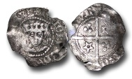 World Coins - JB1720  - SCOTLAND, James III (1460-1488), Silver Penny, 0.50g., 16mm, Light Issue of c.1482, Edinburgh mint