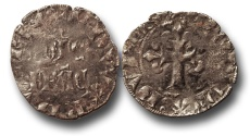 World Coins - SF13 - Anglo-Gallic, Aquitaine, Edward III (As Duke and King of England 1327-1377), Billon Double, Ex Steve Ford Collection.