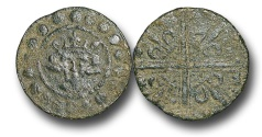 World Coins - H5207 - ENGLAND, PLANTAGENET (c.1302-1350), Time of Edward I-III, Sterling Bust type, Copper Jeton