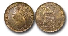 World Coins - EM555 - Great Britain, Victoria (1837-1901), Bronze Farthing, 1885