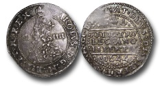 World Coins - TY7 - England, Charles I (1625-1649), Civil War, Royalist mint at Oxford (1642-1646), Silver Groat, 2.01g., 23mm, 1644