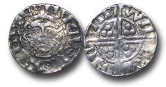 World Coins - RF8 - Medieval England, Henry III (1216-1272), Penny, 1.06g., 18mm, Voided Long Cross Coinage, Class 5c, (1251-1272), Willem - Canterbury