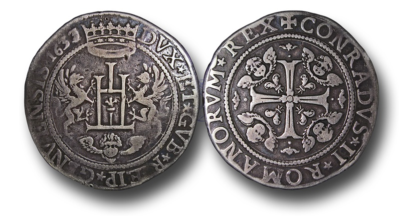 World Coins - GP7 - Italy, Genoa, Silver Two Scudi, dated 1633