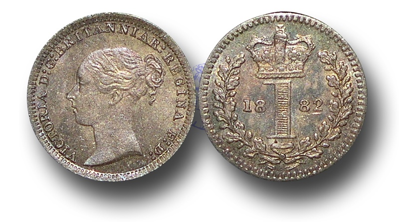 World Coins - EM391 - Great Britain, Victoria   (1837-1901), Silver Maundy Penny,  1880