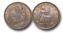 World Coins - EM332 -  Great Britain,  Victoria   (1837-1901), Bronze Farthing, 1867